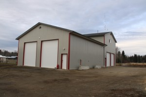 Brand new Horsefly Fire Hall