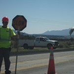 Resisting a discriminatory roadblock in a work zone on a bicycle