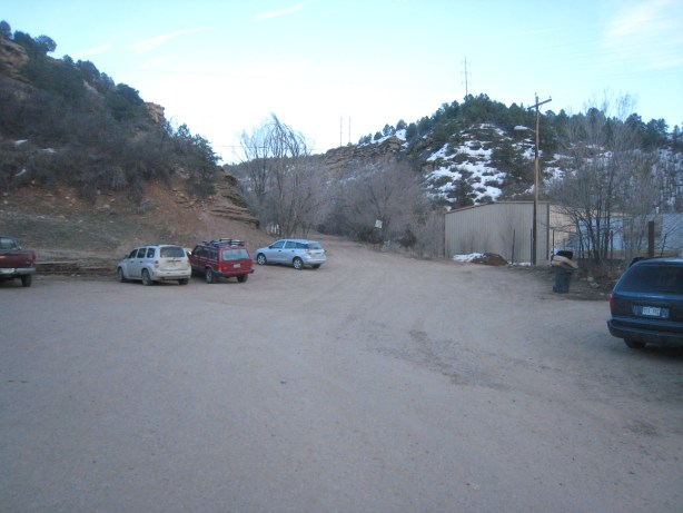 This is how Horse Gulch trail head parking lot used to look.
