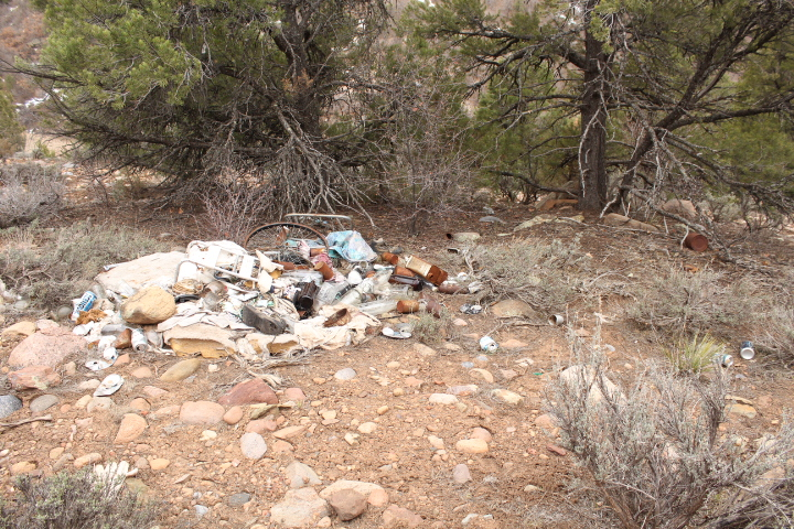 More trash on City-owned land.