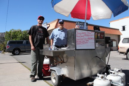 Markus Chesla and Tom Corrado at Good on the Bun cook up some marvelous food to keep your mouth happy.