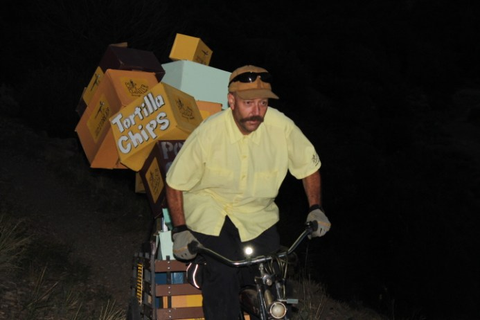 Neil Hannum, The Chip Peddler, was hit by a car last Sunday by Trimble. He's in critical condition.