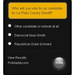 Anonymous survey on upcoming election for county and state candidates, initiatives