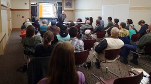 Alpine Bike Parks presented preliminary findings from its analysis of the feasibility study for putting in a bike park at Chapman Hill or Cundiff Park to a group of residents and public officials. at the Durango Community Recreation Center.
