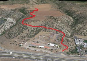 This map depicts an alternative egress route proposed by this blogger for Ewing Mesa.