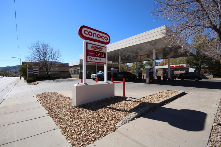 This Conoco Giant gas station sells fuel from Western Refining.