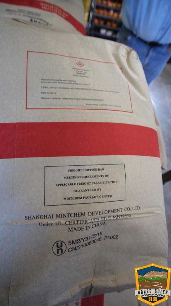 Sodium Fluoride bag, backside