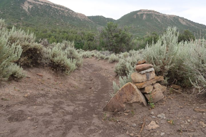 This is the turn off of Horse Gulch Road, aka C.R. 237, headed down to Cap's Trail.