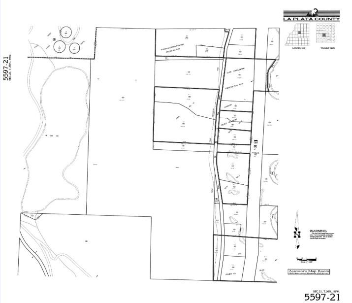 Map courtesy of La Plata County GIS Department and Elizabeth Dufva.