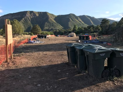 During the 416 Fire, the City opened a temporary evacuation shelter for homeless people below the Greenmount Cemetery where camping was allowed for 60 days. It was closed on August 25, 2018. Comments from homeless people indicated that it was the disrespect that they received from City officials there, not its location, that made the site undesirable for camping.
