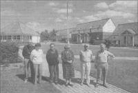 Fra venstre: Henry og Inger Nielsen, Dolly Dahl Jensen, Magda og John Hansen og Anker Andersen. (Foto: Martin Ravn)