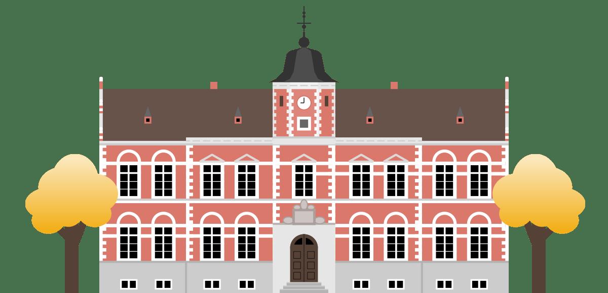 Illustration af det gamle rådhus