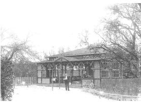 """""""Krokodillen"""" i Stensballe. Postkort fra 1900."""