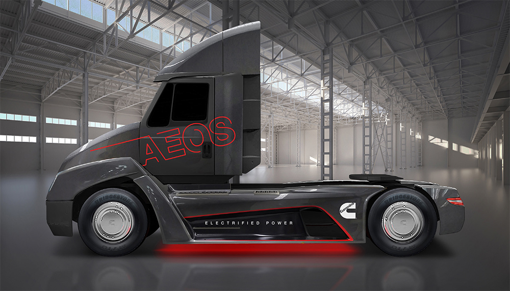 Cummins AEOS Electric Semi Truck Demonstrator Debuts