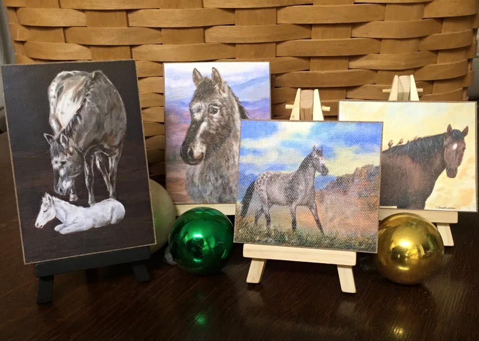 Mini Horse Paintings