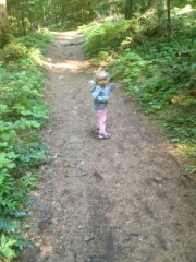 My daughter Bella at the beginning of our hike.