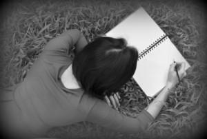 Woman writing Edited