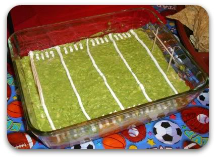7 Layer Football Field Dip (photo courtesy of A Little Tipsy)