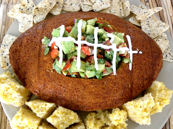 Guacamole Salsa Football Bowl (photo courtesy of Kids Fun Reviewed)