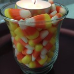 DIY Candy Corn Candle Holders