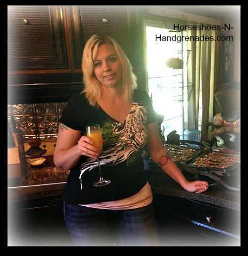Oh you know, just enjoying a Mimosa while cooking breakfast for the fam...that's how we roll.