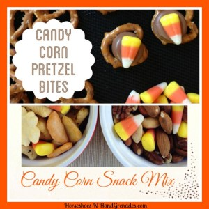 Chocolate Pretzel Bites & Candy Corn Snack Mix
