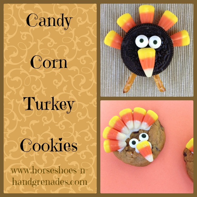 Candy Corn Turkey Cookies
