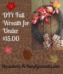 DIY Fall Wreath for Under $15