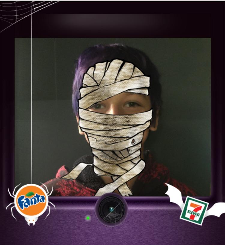 fanta freaky foto booth mummy