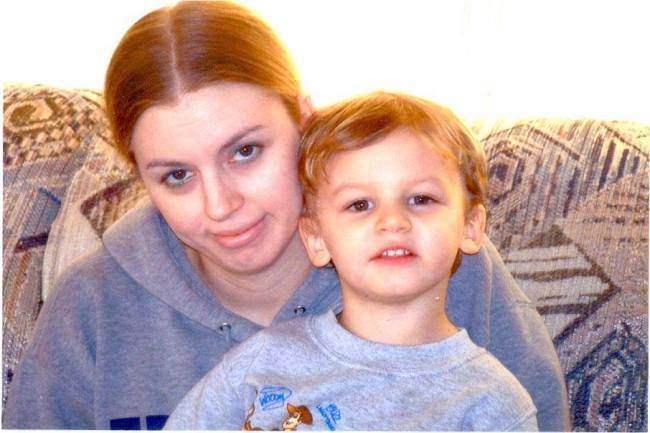 My Son & I back in the day when money was tight...err non-existent, and things were tough.