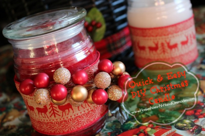 DIY Christmas Candle