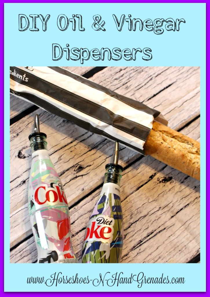 DIY Oil and Vinegar Dispensers