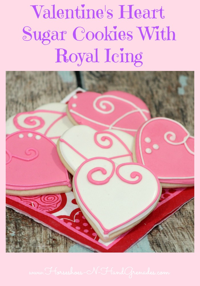 Heart Cookies wRoyal icing