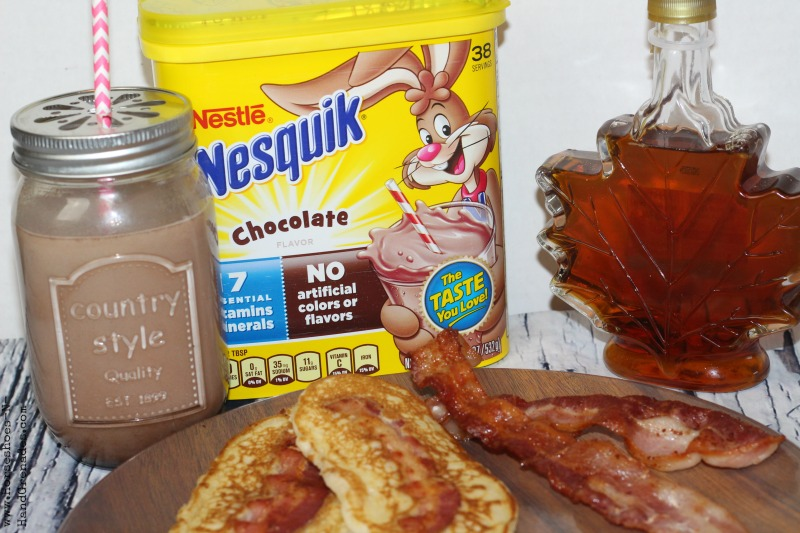 Maple Bacon Pancake Dippers & Nesquick