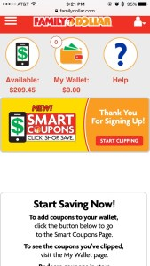 Family Dollar and Smart Coupons is Just Smart Shopping