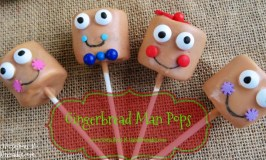 Insanely Easy Butterscotch Gingerbread Man Pops
