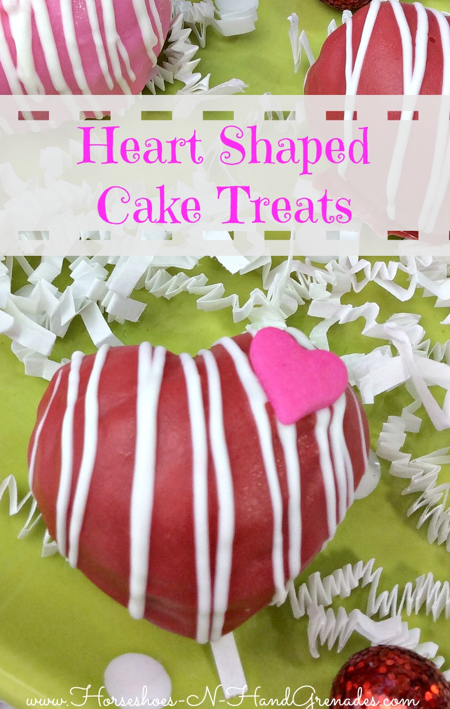 Heart Shaped Cake Treats Pinterest