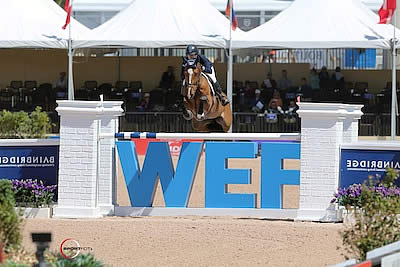 Christine McCrea and Zerly Top $125,000 Ruby et Violette WEF Challenge Cup Round 9