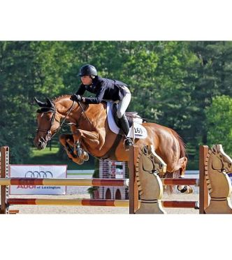 Abigail McArdle and Cosma 20 Capture 1.45m Open Jumper Victory at Kentucky Spring Classic