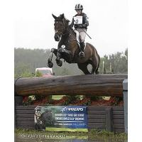 Erin Sylvester riding Mettraise leads the CCI2* division following cross-country