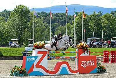 Margie Engle and Indigo Top an Intense Jump-off to Win $100,000 Strongid C 2X Grand Prix