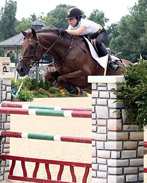 Taylor Land and Merlin Make Magic in High Junior/Amateur-Owner Jumper at Kentucky Summer Classic