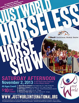 The Alltech National Horse Show Welcomes JustWorld International as 2013 Charity Partner