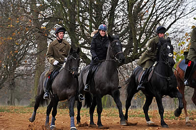 London 2012 Hero Charlotte Dujardin Rides with the Household Cavalry