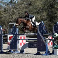 ©ESI Photography. Christina Kelly and Zulieka jump to a win in the $2,500 Brook Ledge Open Welcome