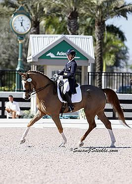 Heather Mason and Zar Triumph in FEI Intermediaire Freestyle at Adequan Global Dressage Festival 1 CDI W
