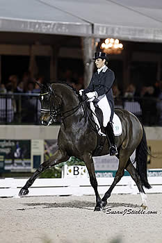 """Don Auriello Shines Bright with Vilhelmson-Silfven in First FEI Grand Prix Freestyle of """"Friday Night Stars"""""""