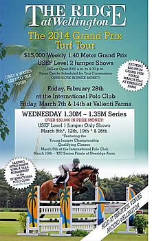 Wednesday and Friday the YJC Qualifying Classes, 1.30m-1.35m Jumpers and 1.40m Grand Prix Head to IPC