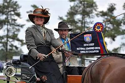 Berndl Retains USEF National Single Horse Driving Championship Title with Supreme Effort at Southern Pines CDE