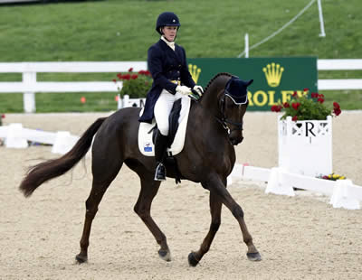 Allison Springer (USA) Leads the 2014 Rolex Kentucky Three-Day Event after Dressage